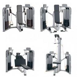 Precor Icarian - zestaw 4 maszyn na 2 stosy na linkach